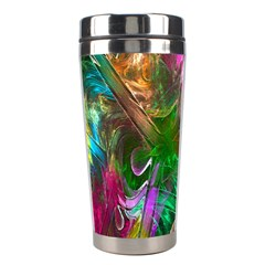 Fractal Texture Abstract Messy Light Color Swirl Bright Stainless Steel Travel Tumblers