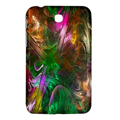 Fractal Texture Abstract Messy Light Color Swirl Bright Samsung Galaxy Tab 3 (7 ) P3200 Hardshell Case