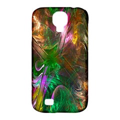 Fractal Texture Abstract Messy Light Color Swirl Bright Samsung Galaxy S4 Classic Hardshell Case (PC+Silicone)
