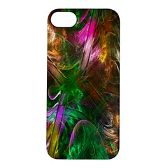 Fractal Texture Abstract Messy Light Color Swirl Bright Apple Iphone 5s/ Se Hardshell Case