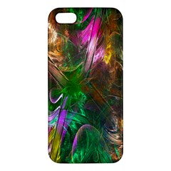 Fractal Texture Abstract Messy Light Color Swirl Bright iPhone 5S/ SE Premium Hardshell Case