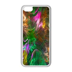 Fractal Texture Abstract Messy Light Color Swirl Bright Apple iPhone 5C Seamless Case (White)