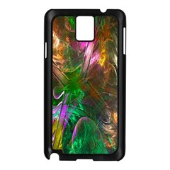 Fractal Texture Abstract Messy Light Color Swirl Bright Samsung Galaxy Note 3 N9005 Case (Black)