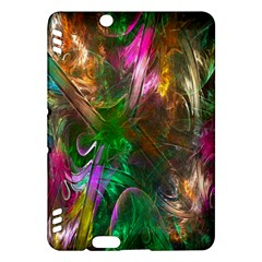 Fractal Texture Abstract Messy Light Color Swirl Bright Kindle Fire HDX Hardshell Case