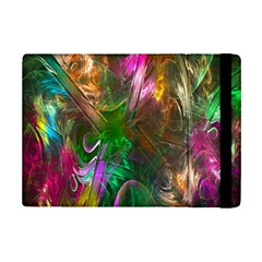 Fractal Texture Abstract Messy Light Color Swirl Bright iPad Mini 2 Flip Cases