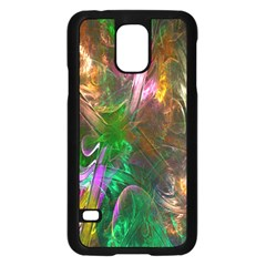 Fractal Texture Abstract Messy Light Color Swirl Bright Samsung Galaxy S5 Case (Black)