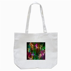 Fractal Texture Abstract Messy Light Color Swirl Bright Tote Bag (White)