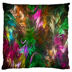 Fractal Texture Abstract Messy Light Color Swirl Bright Large Flano Cushion Case (Two Sides)