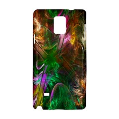 Fractal Texture Abstract Messy Light Color Swirl Bright Samsung Galaxy Note 4 Hardshell Case