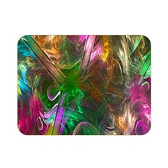Fractal Texture Abstract Messy Light Color Swirl Bright Double Sided Flano Blanket (Mini)