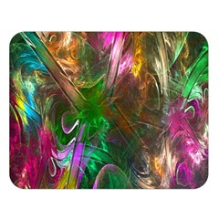 Fractal Texture Abstract Messy Light Color Swirl Bright Double Sided Flano Blanket (Large)