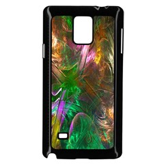 Fractal Texture Abstract Messy Light Color Swirl Bright Samsung Galaxy Note 4 Case (black)