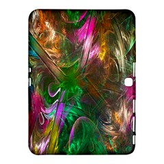 Fractal Texture Abstract Messy Light Color Swirl Bright Samsung Galaxy Tab 4 (10.1 ) Hardshell Case