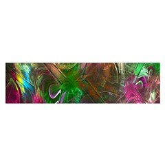 Fractal Texture Abstract Messy Light Color Swirl Bright Satin Scarf (Oblong)