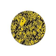 Test Steven Levy Rubber Round Coaster (4 pack)
