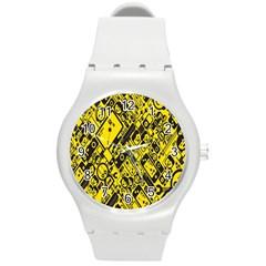 Test Steven Levy Round Plastic Sport Watch (M)