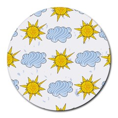Sunshine Tech White Round Mousepads