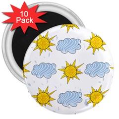 Sunshine Tech White 3  Magnets (10 pack)