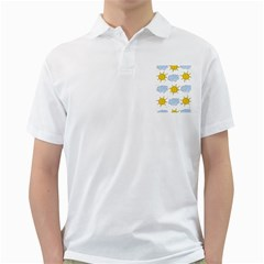 Sunshine Tech White Golf Shirts