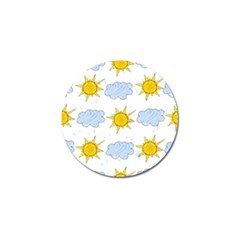 Sunshine Tech White Golf Ball Marker (10 pack)