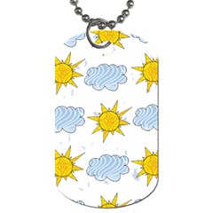 Sunshine Tech White Dog Tag (Two Sides)