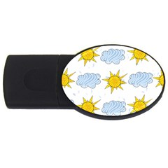 Sunshine Tech White USB Flash Drive Oval (2 GB)