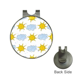 Sunshine Tech White Hat Clips With Golf Markers