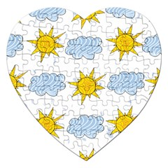 Sunshine Tech White Jigsaw Puzzle (heart)