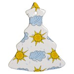 Sunshine Tech White Ornament (Christmas Tree)  Front