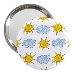 Sunshine Tech White 3  Handbag Mirrors