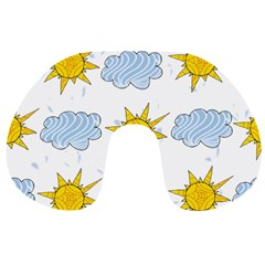 Sunshine Tech White Travel Neck Pillows