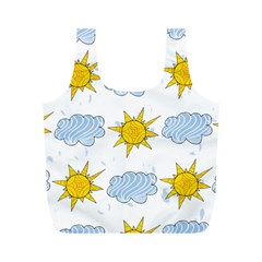Sunshine Tech White Full Print Recycle Bags (M)