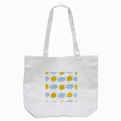 Sunshine Tech White Tote Bag (White)