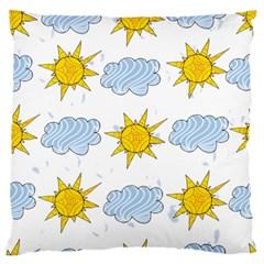 Sunshine Tech White Large Flano Cushion Case (Two Sides)