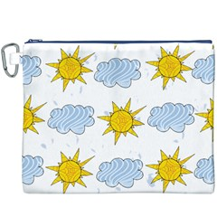 Sunshine Tech White Canvas Cosmetic Bag (XXXL)