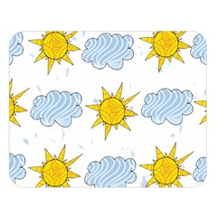 Sunshine Tech White Double Sided Flano Blanket (Large)