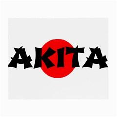 Akita Name On Flag Small Glasses Cloth (2-Side)