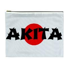 Akita Name On Flag Cosmetic Bag (XL)