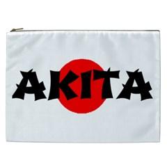 Akita Name On Flag Cosmetic Bag (XXL)