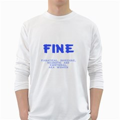 Fine for Boys White Long Sleeve T-Shirts