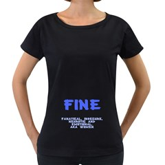 Fine for Boys Women s Loose-Fit T-Shirt (Black)