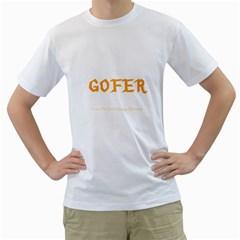 Gofer Men s T Shirt (white)