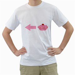 Hes A Cupcake Men s T Shirt (white) (two Sided)