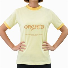 Orchid Women s Fitted Ringer T Shirts
