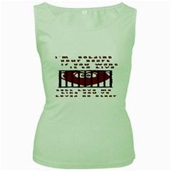 Ransom Heart Women s Green Tank Top