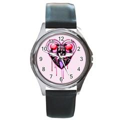 BDSM Love Round Metal Watch