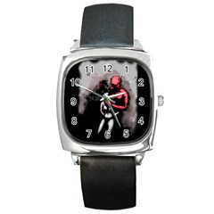 Bescaredduv Square Metal Watch