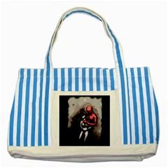 Bescaredduv Striped Blue Tote Bag