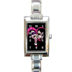 I Know What You Want Rectangle Italian Charm Watch