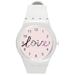 Toy Love Round Plastic Sport Watch (M)